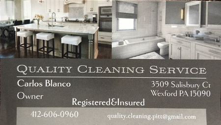 My Name Is Carlos And I Am The Owner Of Quality Cleaning Service. We Are A  Fully Insured And Registered Cleaning Business For Your Home And Office.
