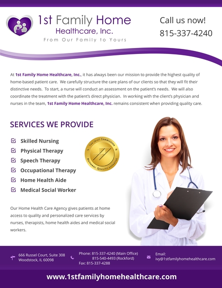 1st Family Home Healthcare Inc Care Com Woodstock Il Home Care Agency