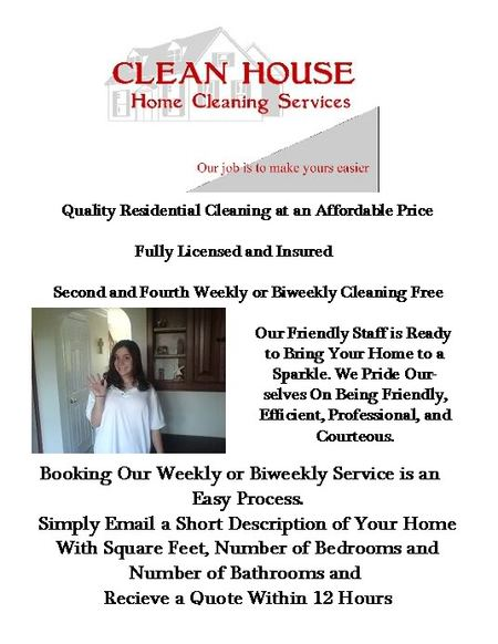 CLEAN HOUSE Home Cleaning Services Bristol PA House