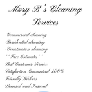 Mary B's Cleaning Services's Photo