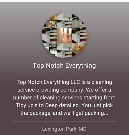 Top Notch Everything Llc Care Com Lexington Park Md