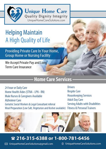 Unique home care chagrin falls oh home care agency for Unique home care