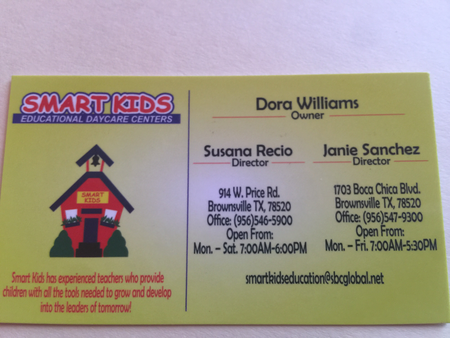 Smart Kids Educational Daycare Care Com Brownsville Tx